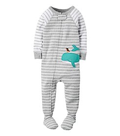 Carter's® Boys' 2T-7 Striped Whale And Bird Sleeper