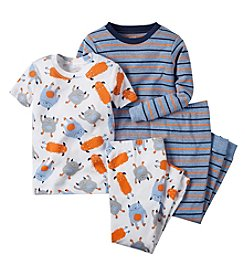 Carter's® Boys' 12M-8 Monster Print 4-Piece Pajama Set