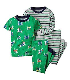 Carter's® Boys' 12M-8 Knights Print 4-Piece Pajama Set