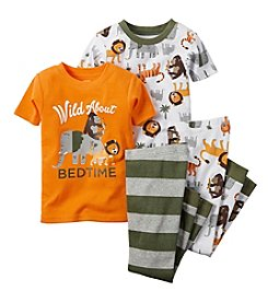 Carter's® Boys' 12M-4T 'Wild About Bedtime' 4-Piece Pajama Set