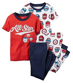 Carter's® Boys' 12M-4T All Star Sports 4-Piece Pajama Set