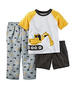 Carter's® Boys' 12M-8 Construction 3-Piece Pajama Set