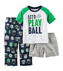 Carter's® Boys' 12M-8 Let's Play Ball 3-Piece Pajama Set