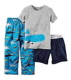 Carter's® Baby Boys Whale Print 3-Piece Pajama Set