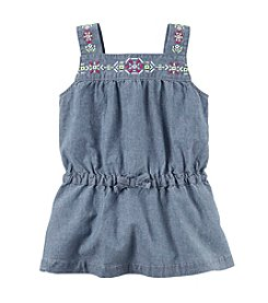 Carter's® Girls' 2T-6X Embroidered Chambray Tunic