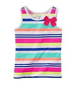 Carter's® Girls' 2T-6X Striped Bow Tank
