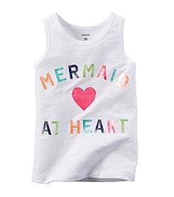 Carter's® Girls' 2T-6X Mermaid At Heart Printed Tank