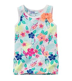Carter's® Girls' 2T-6X Hibiscus Printed Bow Tank
