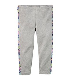 Carter's® Girls' 2T-6X Geo Printed Tuxedo Capri Leggings