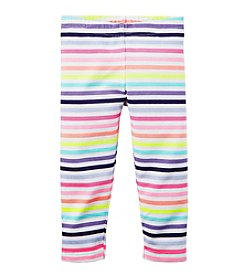 Carter's® Girls' 2T-6X Striped Capri Leggings