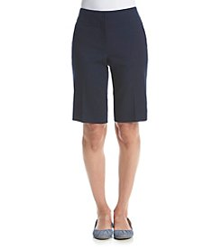 Laura Ashley® Solid Skimmer Shorts
