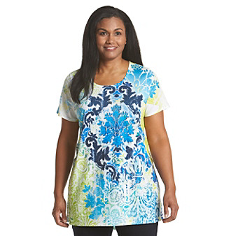 Laura Ashley® Plus Size Vintage Print Tunic plus size,  plus size fashion plus size appare