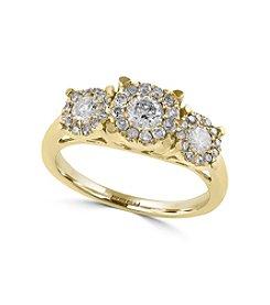 Effy® 1 ct. tw. Diamond Ring In 14K Yellow Gold