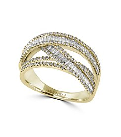 Effy® .98 ct. tw. Diamond Ring In 14K Yellow Gold