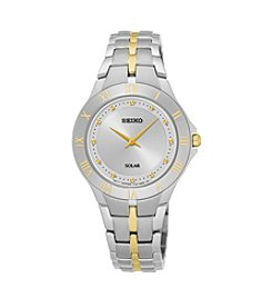 Seiko® Women's Two Tone Stainless Steel Watch