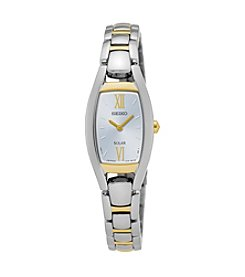 Seiko® Women's White Dial Watch