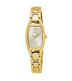 Seiko® Women's Goldtone Champagne Dial Watch