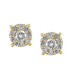 Effy® .50 ct. tw. Diamond Earrings In 14K Yellow Gold