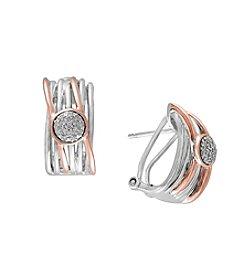 Effy® .11 ct. tw. Diamond Earrings In Sterling Silver