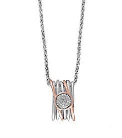 Effy® .09 ct. tw. Diamond Pendant In Sterling Silver