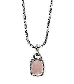 Effy® Rose Quartz Pendant In Sterling Silver