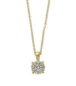 Effy® .47 ct. tw. Diamond Pendant In 14K Yellow Gold