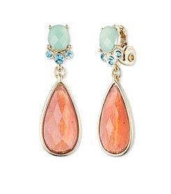 Anne Klein® Goldtone Multi Clip Drop Earrings