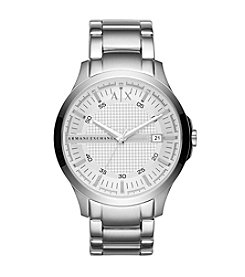 A|X Armani Exchange Mens Silvertone Stainless Steel Watch
