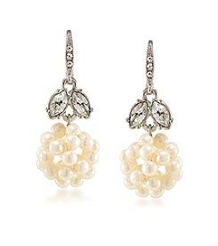 Carolee® Silvertone Washington Square Double Drop Pierced Earrings