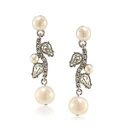 Carolee® Silvertone Washington Square Linear Pierced Earrings