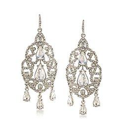 Carolee® Silvertone Washington Square Chandelier Pierced Earrings