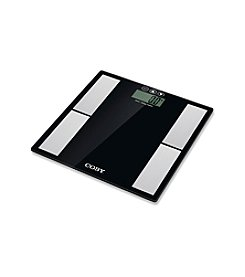 Coby® Tempered Glass Digital Body Fat Scale with Stainless Steel Sensors and 10 User Memory