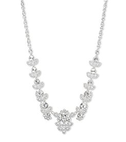 Givenchy® Silvertone Austrian Glass Collar Necklace
