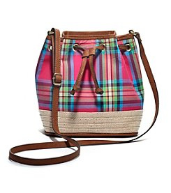 GAL Canvas With Jute Drawstring Crossbody