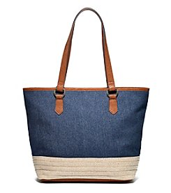 GAL Canvas With Jute Top Zipper Tote