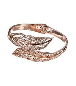 GUESS Rose Goldtone Filigree Leaf Cuff Bracelet