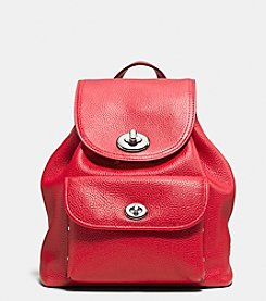 COACH MINI TURNLOCK RUCKSACK IN PEBBLE LEATHER