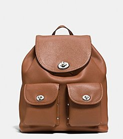 COACH TURNLOCK RUCKSACK IN PEBBLE LEATHER