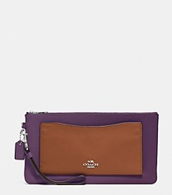 COACH SNAP WRISTLET IN COLORBLOCK LEATHER