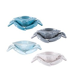 Fitz and Floyd® Cape Coral Set of 4 Assorted Crab Butter Dish