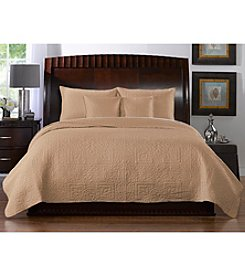 LivingQuarters New Haven Khaki Quilt Collection