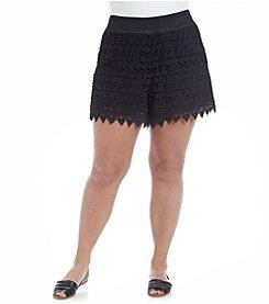 Wallflower® Plus Size Crochet Shorts