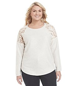 Eyeshadow® Plus Size Lace Pullover