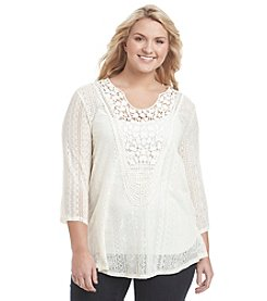 Eyeshadow® Plus Size Crochet Top