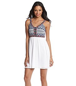 Trixxi® Embroidered Strap Dress