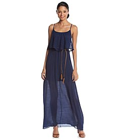 Trixxi® Crochet Popover Maxi Dress