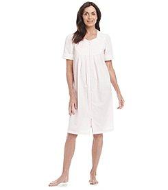 Miss Elaine® Woven Zip Up Robe