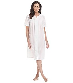 Miss Elaine® Woven Button Up Robe