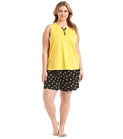 Intimate Essentials® Plus Size Shorts Pajama Set