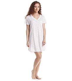 KN Karen Neuburger Printed V Neck Nightgown